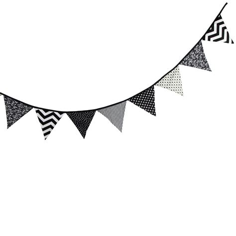 Banner Segitiga Happy Birthday black and white pennant banner clipart black and white