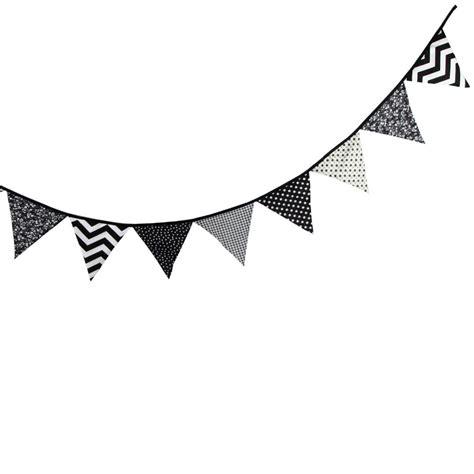 Banner Segitiga Happy Birthday black and white pennant banner clipart black and white