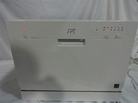 Stainless Steel Countertop Dishwasher local spt countertop dishwasher w stainless steel interior ebay