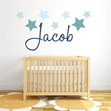 name wall stickers name fabric wall sticker by littleprints