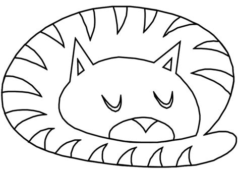 sleepy cat coloring page sleeping cat drawing clipart best