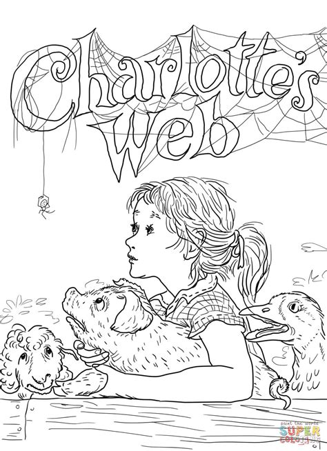 charlottes web free colouring pages