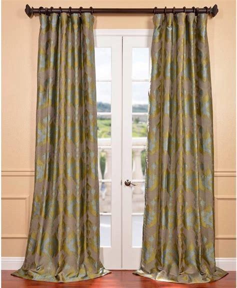 ikat print curtains borneo peacock blue ikat jacquard curtain panel
