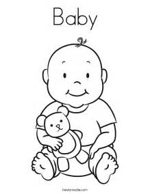 baby coloring pages baby coloring page twisty noodle