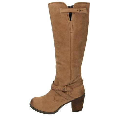 hush puppies gussie moorland leather boots knee high heel