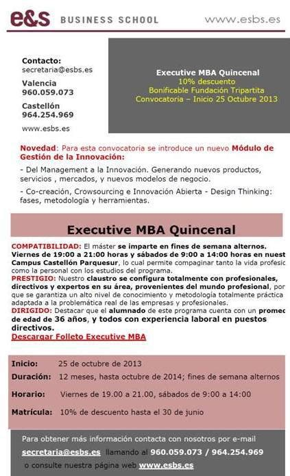 Mba Executive by June 2013 E S