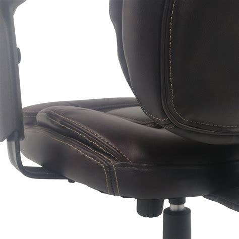 plush leather office chair 86 plush faux leather office chair chairs