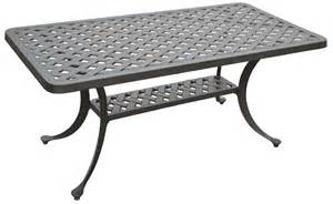 Black Patio Table Crosley Sedona Cast Aluminum Rectangular Cocktail Table In Charcoal Black Finish By Oj Commerce