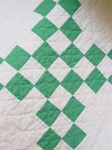 green  white double irish chain quilt sold cindy