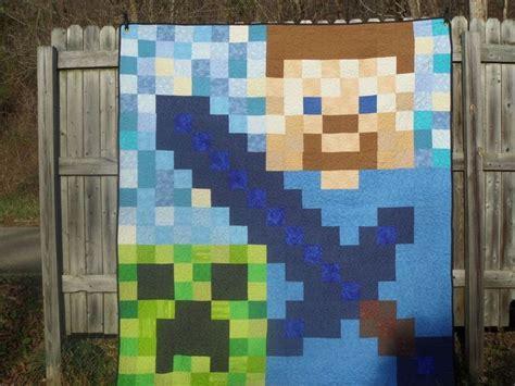 Minecraft Handmade - handmade quilt blanket 76x84 pixel minecraft lego