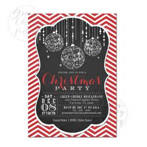 Ugly Sweater Christmas Party Invitations Template - printable christmas party invitation chalkboard frame red chevron