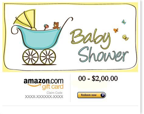 Custom Amazon Gift Cards - amazon baby shower gift card personalized baby gifts eastern shore digimall