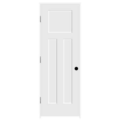 jeld wen interior doors home depot jeld wen 28 in x 80 in craftsman smooth 3 panel primed