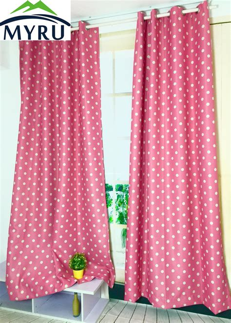 myru blue castle shade cloth curtain childrens bedroom myru new arrival blue color with white dots shade cloth
