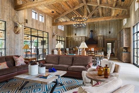 llano ranch rustic living room austin by