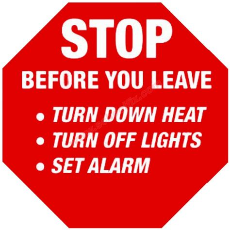 How Can You Leave A Heat L On 10in high intensity stop sign sticker stop before you