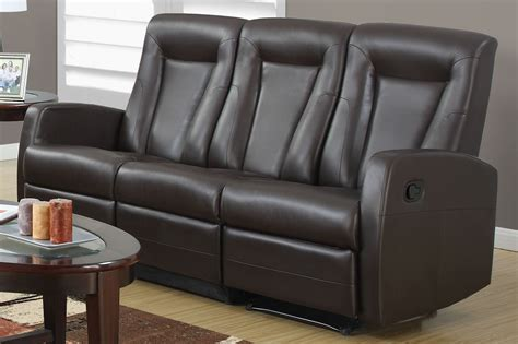 Bonded Leather Reclining Sofa 82br 3 Brown Bonded Leather Reclining Sofa 82br 3 Monarch