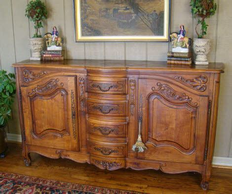 antique french country buffet louis xv sideboare old for