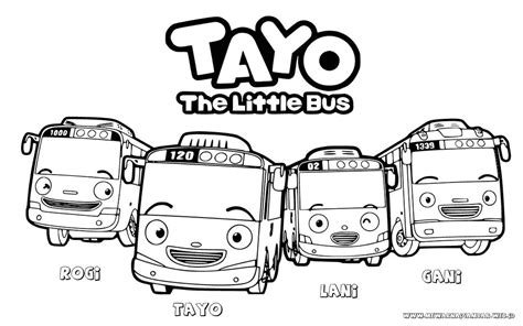 download film tayo the little bus mewarnai gambar tayo the little bus mewarnai gambar