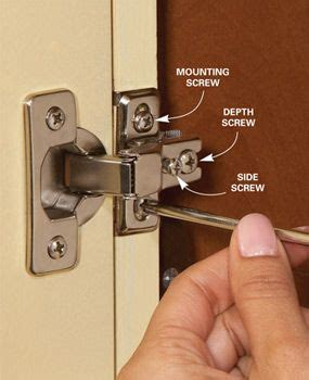 How To Adjust Kitchen Cabinet Hinges Home Repair How To Fix Kitchen Cabinets