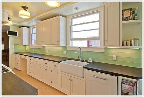 green subway tile kitchen backsplash green glass subway tile kitchen backsplash tiles home