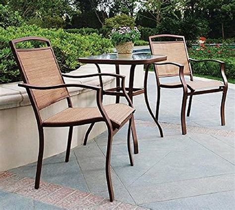 3 pc high top bistro table chairs set slingback material