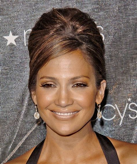 jay lo hairstyles jennifer lopez updo medium straight formal updo hairstyle