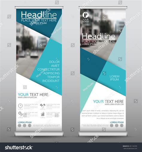 design banner publisher blue roll business banner design vertical stock vector