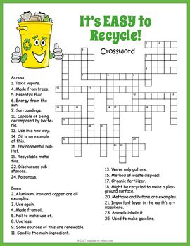 compress pdf meaning recycling crossword puzzle by puzzles to print tpt