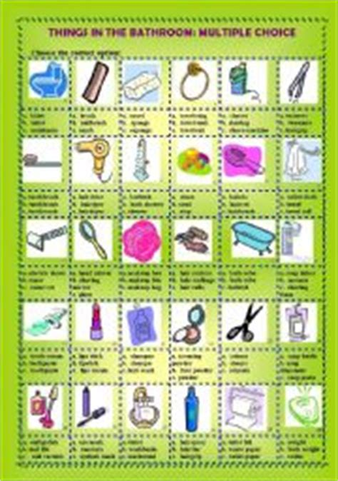 english term for bathroom english teaching worksheets the bathroom
