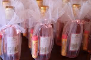 favor ideas for bridal showers bridal shower favor idea mini wine bottles and