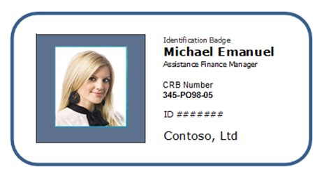 free ms word id card template employee photo id badge sle template excel templates