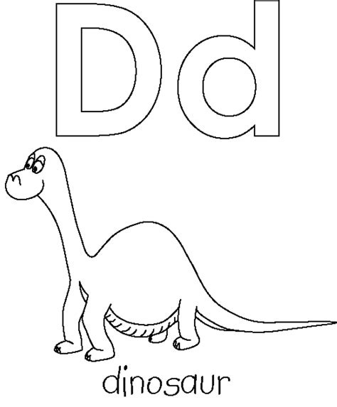 letter d dinosaur coloring page free letter d for dino printable alphabet coloring pages