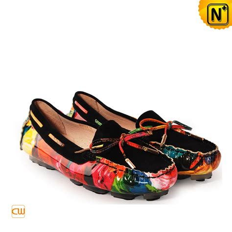 flat shoes design designer printed leather flat shoes cw300567