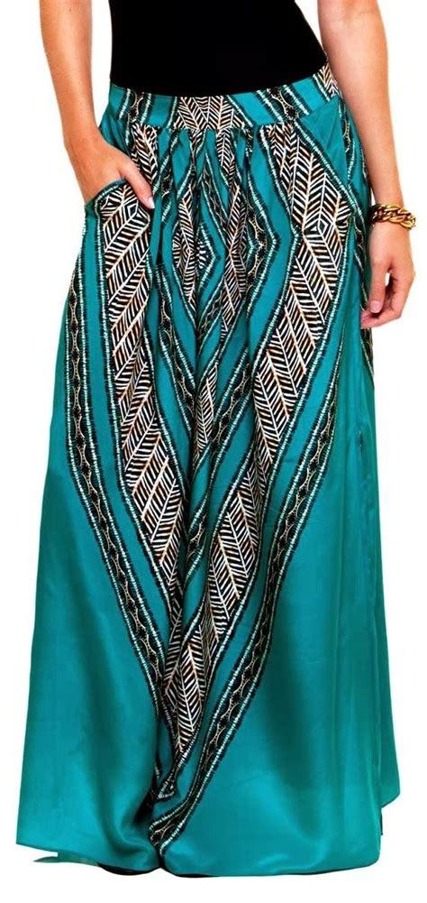 tribal print maxi skirt andy s closet