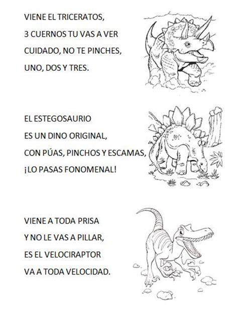 poesia imagenes sensoriales actividades venimos a aprender poes 205 a de los dinosaurios
