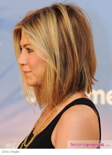 picture of a graduated bo layered front and back view long bob graduated layers that are longer in front yet