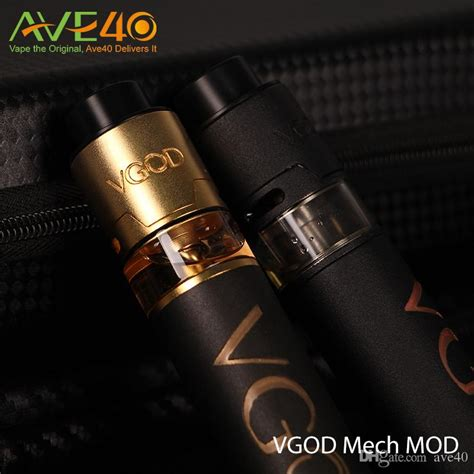 Mod Wismec Rx300 300w Authentic Rda Goon 24 Awt 3000mah original vgod pro mech mod 24mm diameter 5 large vent
