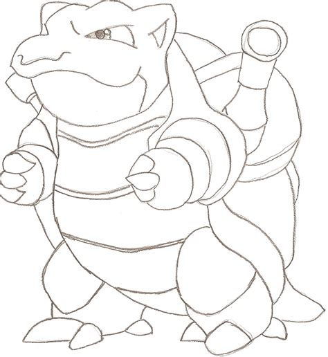 coloring pages pokemon blastoise drawings pokemon blastoise lineart by tweak 93 on deviantart