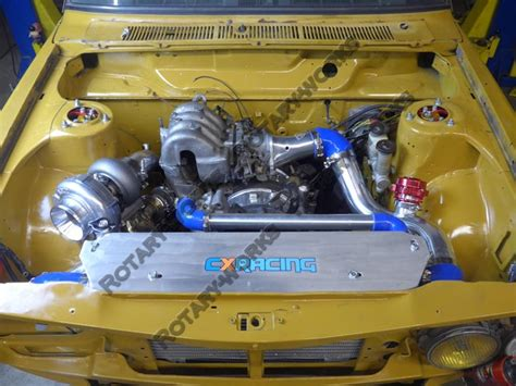 datsun 510 intercooler 13b rotary engine turbo manifold intercooler radiator
