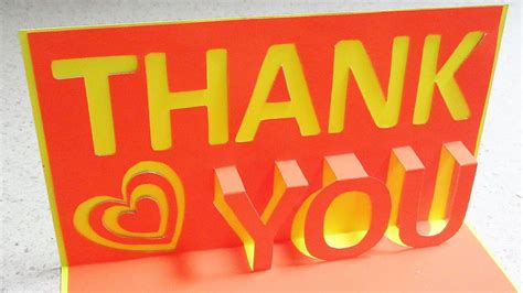 Thank You Pop Up Card Learn How To Make A Thankyou Popup Card From Template Ezycraft Youtube Thank You Pop Up Card Template