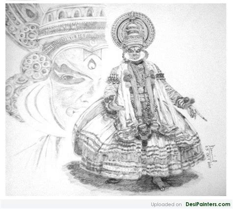 Kathakali Pencil Sketch
