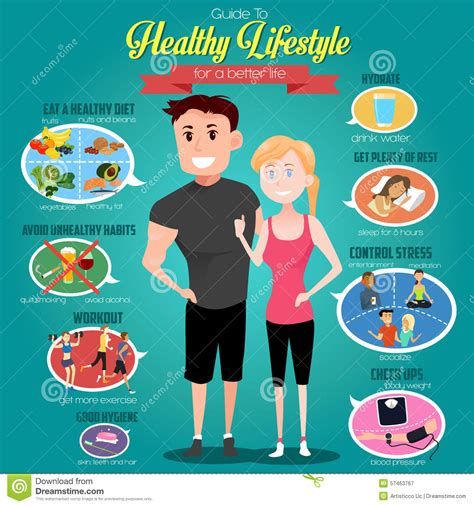 sport fitness a guide to a healthier lifestyle books guide to healthy lifestyle infographics stock vector