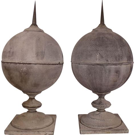 Vintage L Finials by Vintage Metal Pointed Finials With Gorgeous