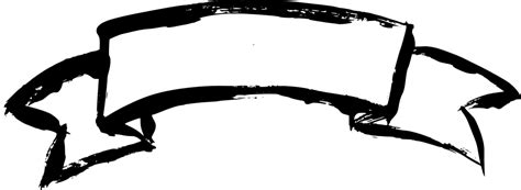 Monochrome Black Ribbon 2000 Image Print For Matica Espresso 6 grunge ribbon banner png transparent onlygfx