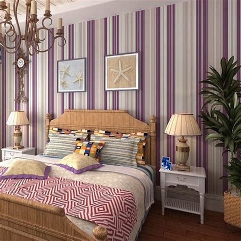bedroom purple wallpaper girl bedroom wallpaper modern purple stripe wallpaper wall