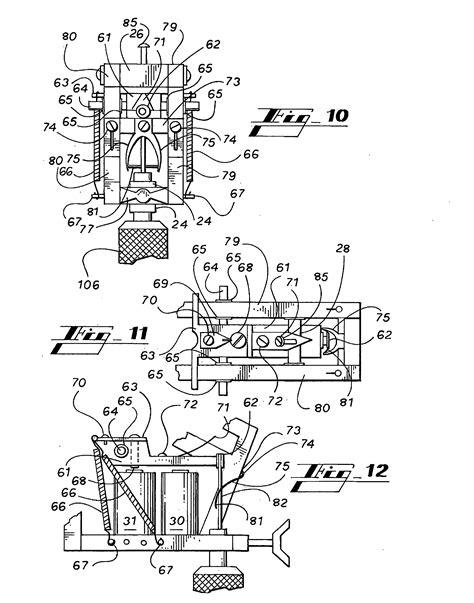 tattoo machine blueprints patent us20080078271 tattoo machine google patents