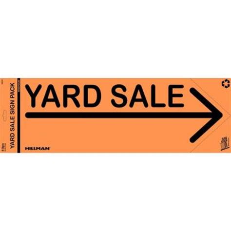 the hillman yard sale sign pack 843314 the home depot