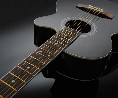 Gitarre Pickup Lackieren by Acustica Chitarra Western Nero 5 Nastro Eq Pick Up Ebay