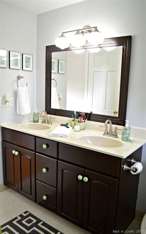 bathroom mirror makeover pinterest the world s catalog of ideas